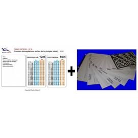 Table nitrox32+kit narcose.